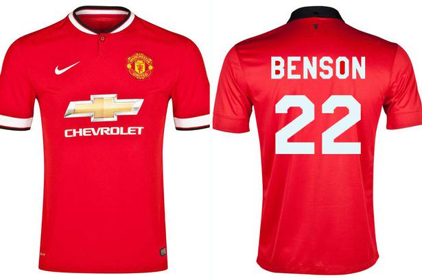Guy Goes On The Rob Wearing Manchester United Shirt, With His Name On Back benson