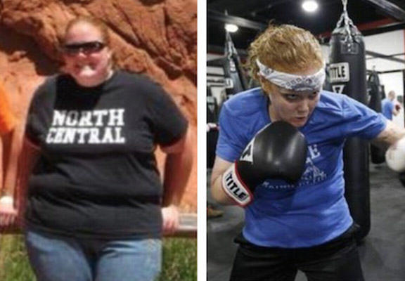Morbidly Obese Woman Close To Death Takes Up Boxing, Loses 200 Pounds boxing weight loss WEB