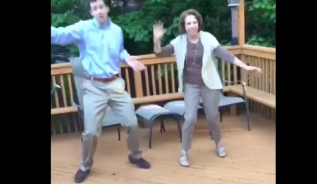 Dude Teaches Mother To Dance The Whip, Makes For Seriously Cringe Viewing brobible