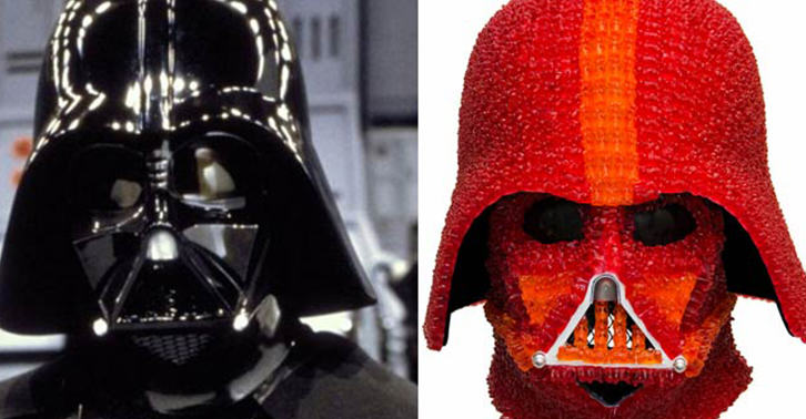 One Genius Has Created A Darth Vader Helmet Made Out Of Gummy Bears darth fb