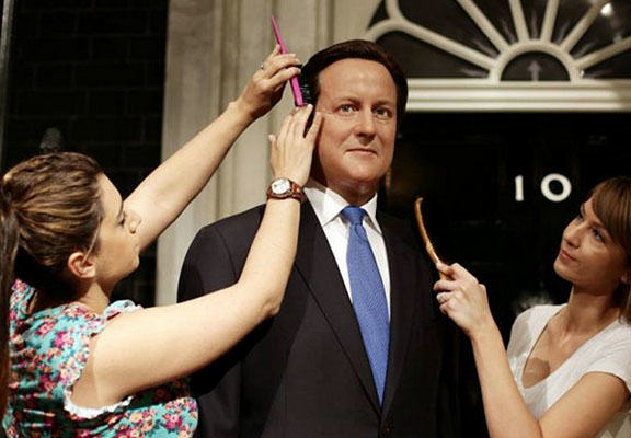 David Cameron Waxwork Revamped With Grey Hair And Wrinkles