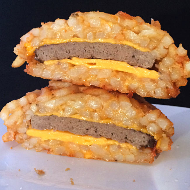 Someone Has Actually Created A Burger With A Bun Made From French Fries french fry burger