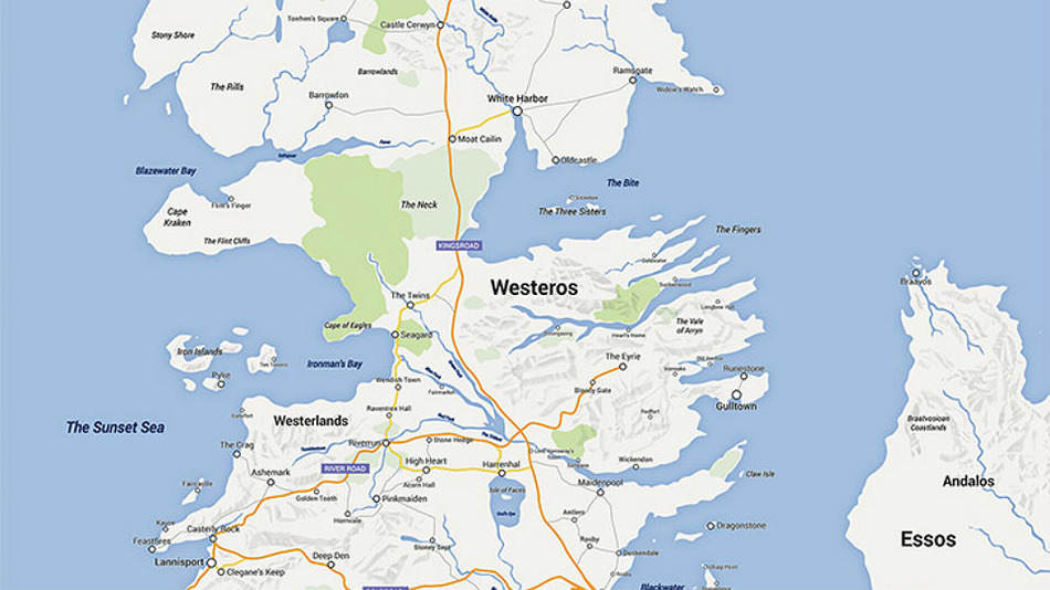 Game Of Thrones Fan Turns Westeros Into A Google Map got