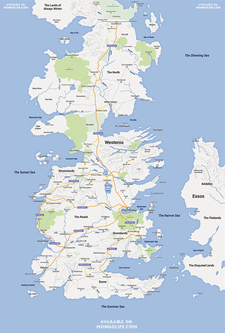 Game Of Thrones Fan Turns Westeros Into A Google Map got1