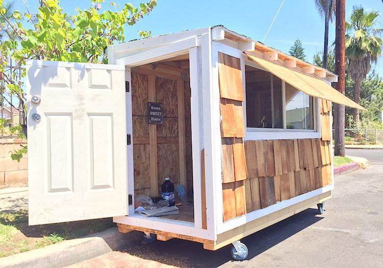 Man Builds Tiny House For 60 Year Old Homeless Woman house