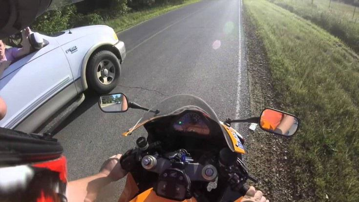 Redneck Tries To Run Biker Off The Road, Gets Taught One Hell Of A Lesson image2