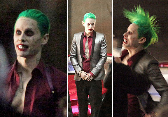 The Joker Looks Crazy As F*ck In These Suicide Squad Set Photos leto joker WEB