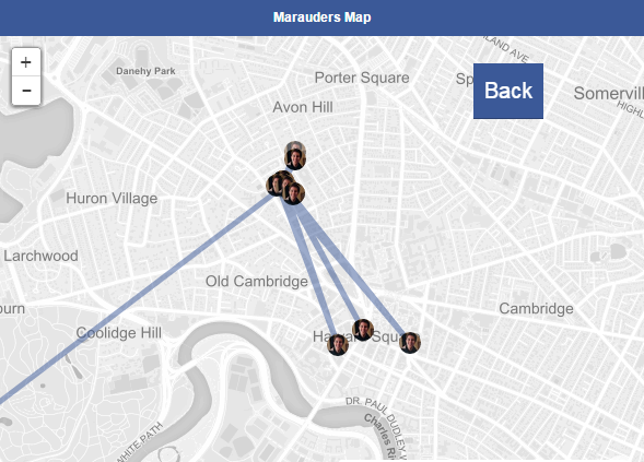 New App Lets You See Facebook Friends Past And Present Locations map11