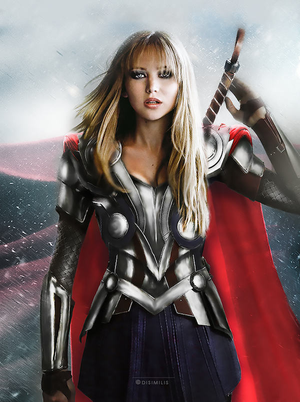One Artist Has Switched Up The Avengers To Female Actresses, Its Amazing marvel5