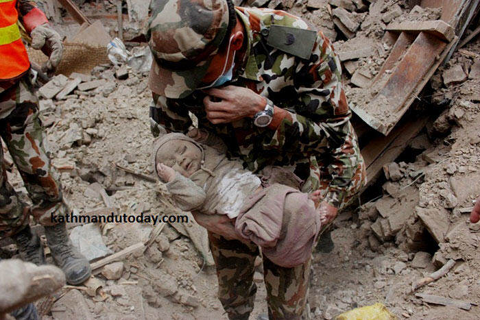 19 Year Old Saves 55 Orphans During The Devastating Earthquake In Nepal nepalbaby3