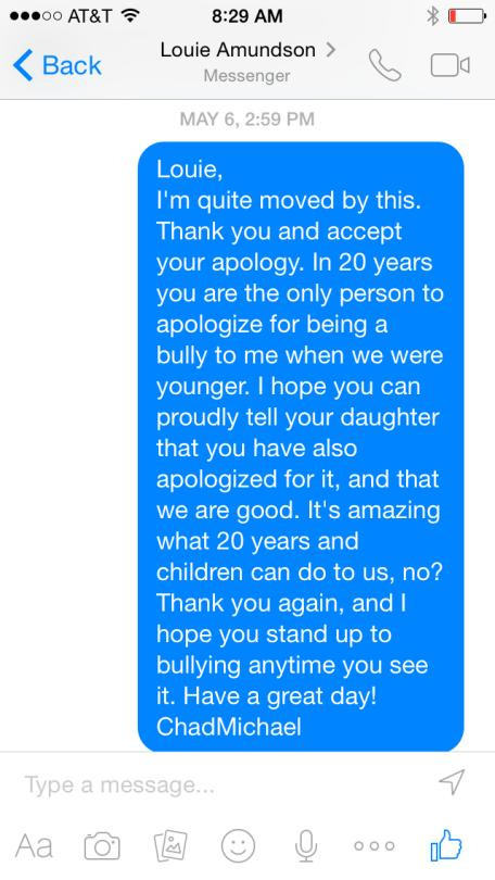 Bully Apologizes To Victim 20 Years Later Via Facebook Messenger orry1