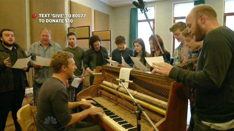 Emilia Clarke Sings Reggae In Coldplays Red Nose Day Special red nose 2