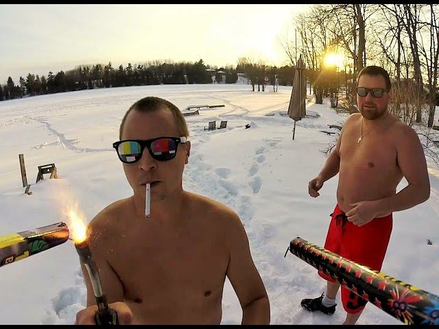 Two Dudes Redefine Crazy With Roman Candle Drone Attack Video roman