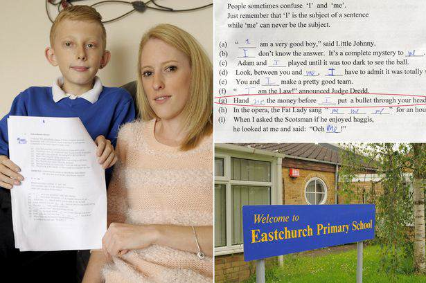 Outrageous Homework Question Lands Primary School In Hot Water school
