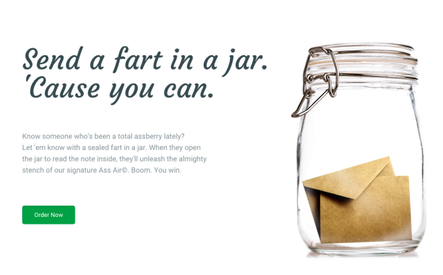 You Can Now Send Farts In A Jar Because WTF Society send a jart