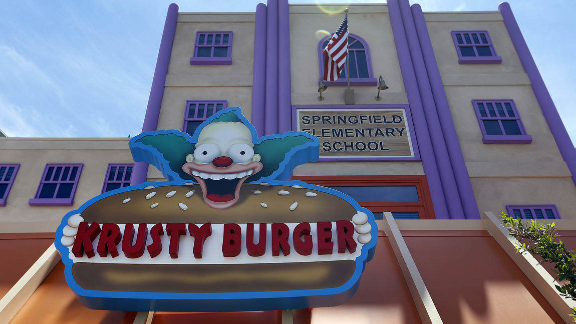 Springfield Comes To Life As Universal Studios Opens The Home Of The Simpsons sideshow bob 2