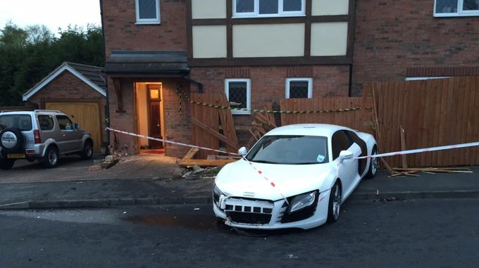Drunk Teenager Crashes Dads £100,000 Audi R8 Into Pensioners Home stream img 2
