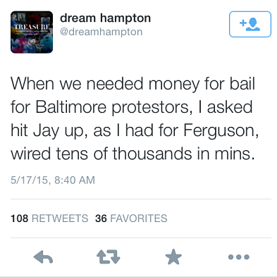 Jay Z Reportedly Covered Bail For Hundreds Of Protestors In Ferguson And Baltimore tweet2