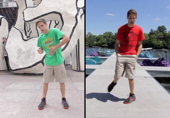 Lad Does The Same Dance In 100 Different Places In Epic New Video 100 dance WEB