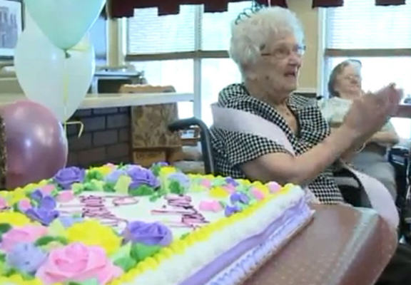 100 Year Old Woman Claims Secret To Success Is Booze 100 web