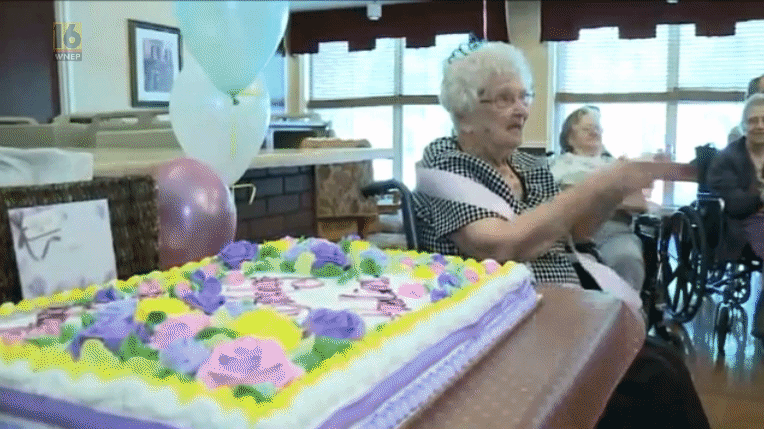 100 Year Old Woman Claims Secret To Success Is Booze 100gif