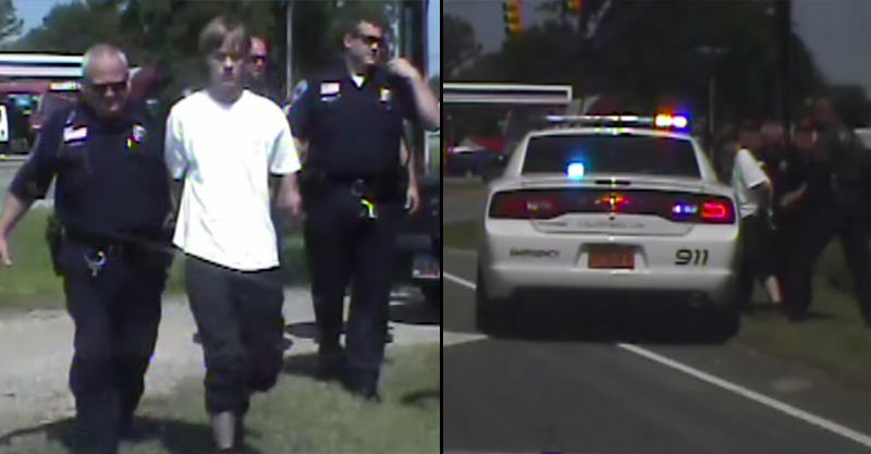 Charleston Shooter Dylann Roof Arrest Caught On Dashcam 1126