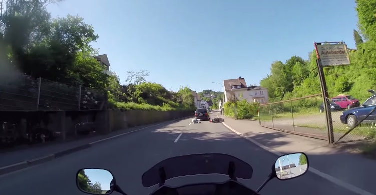 Watch This Car Driver Intentionally Knock A Guy Off His Scooter 174