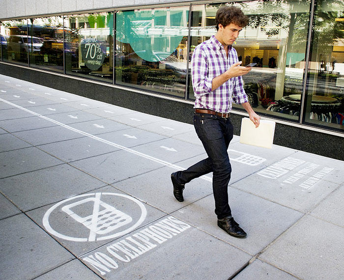 Are You Glued To Your Phone Enough To Walk In The Text Lane? 316
