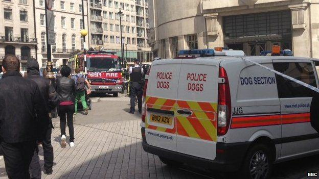 Man Tackled After Threatening To Set Himself On Fire Outside BBC 83534848 83534847