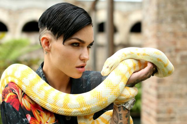 The New Girl In Orange Is The New Black Has Got Everyone Talking Ruby Rose snake