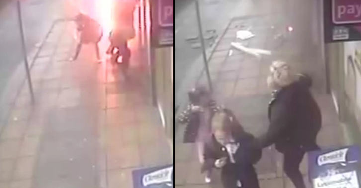 Lucky Escape For Mum And Her Two Kids As Manhole Explodes TN112