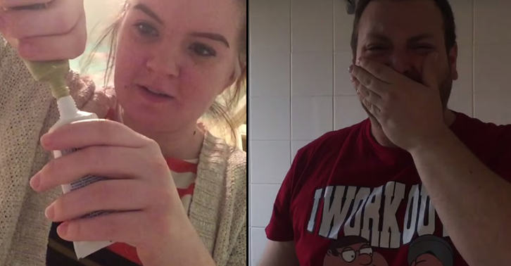 Girl Gets Revenge On Pranking Boyfriend By Putting Wasabi In His Toothpaste TN145