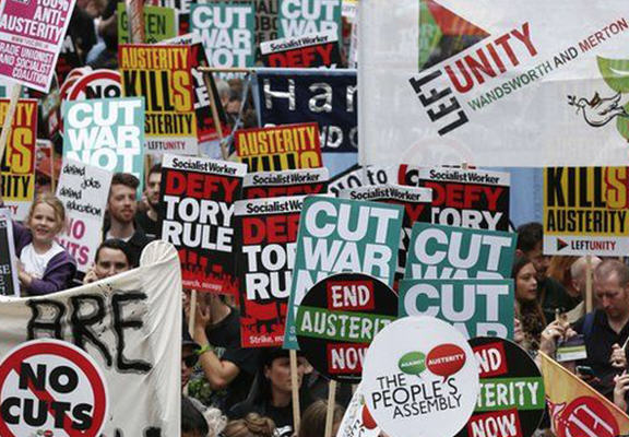 Thousands March In London To Protest Against Government Austerity Cuts anti austerity WEB 1