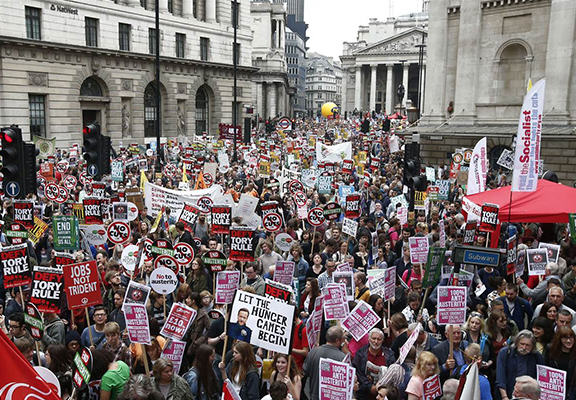 Thousands March In London To Protest Against Government Austerity Cuts anti austerity WEB 2