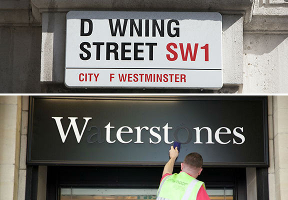 Letters On Signs And Buildings In The UK Are Going Missing To Encourage Blood Donation blood drive WEB