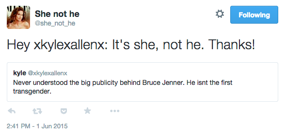 If You Misgender Caitlyn Jenner, This Twitter Bot Will Correct You caitlyn tweet 3