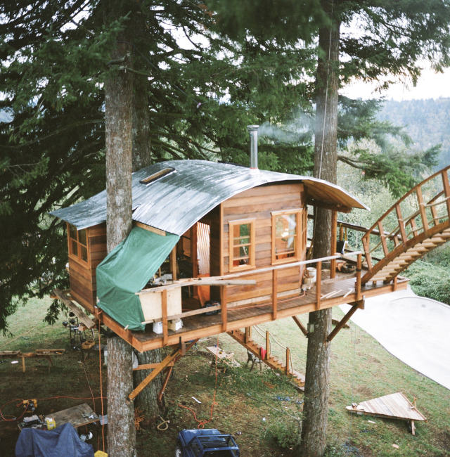 Guy Quits His Job To Build Insane Treehouse, Has Zero Regrets cinder cone 2
