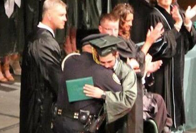 Cop Who Told Teen His Parents Had Died Turns Up At His Graduation cop2