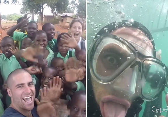 Lad Quits His Job To Travel The World And Give High Fives craig lewis WEB
