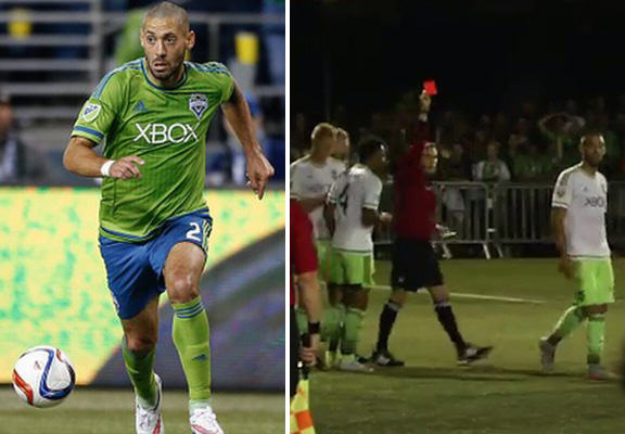Clint Dempsey Literally Tears Up The Rulebook And Gets Sent Off dempsey WEB