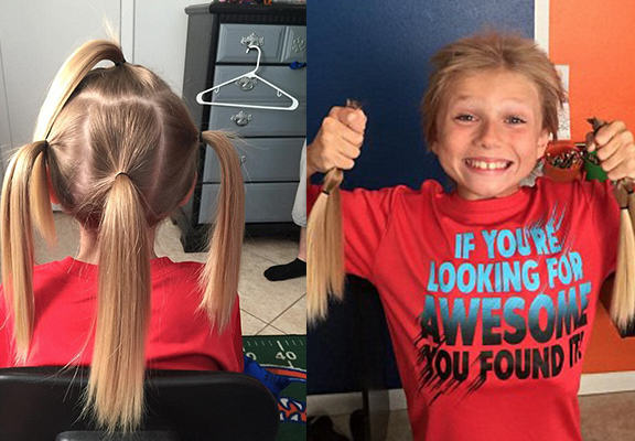 Boy Grows His Hair To Donate To Child Cancer Victims, Gets Bullied For Looking Like A Girl hair 1