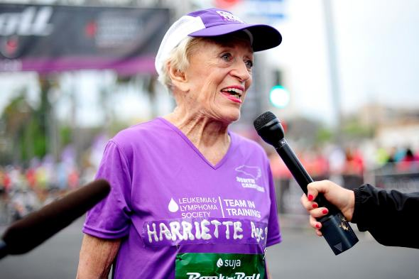 92 Year Old Woman Becomes Oldest Woman To Complete Marathon harriette1