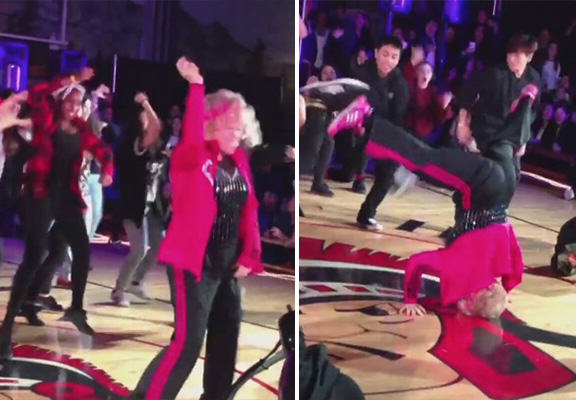 Retiring 60 Year Old Teacher Absolutely Smashes This Dance To Uptown Funk hip hop dance WEB