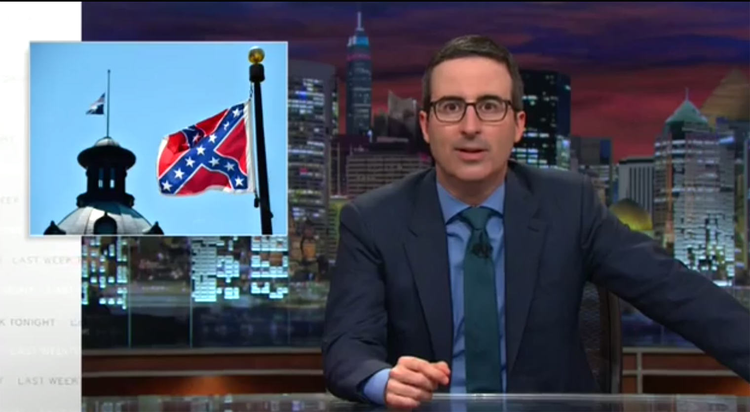 John Oliver Has A Very Simple Solution For South Carolina And The Confederate Flag john oliver confederate