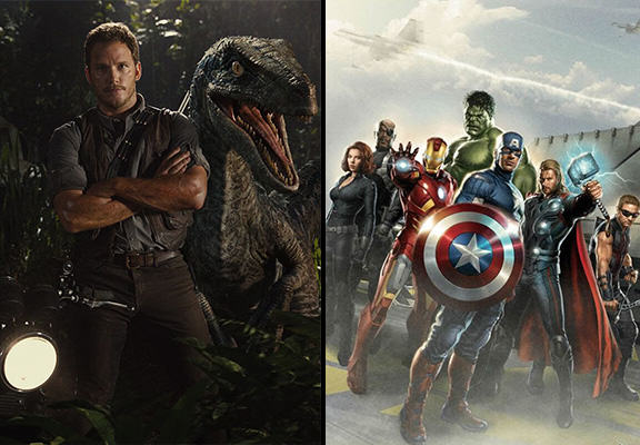 Marvel Responds Brilliantly To Being Knocked Off The Top By Jurassic World jurassic world avengers WEB