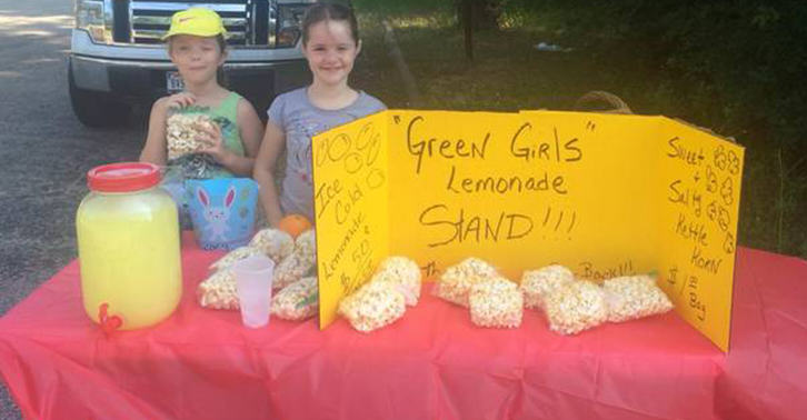 Texas Police Shut Down Girls Lemonade Stand, They Were Trying To Make Money For Fathers Day lemons fb