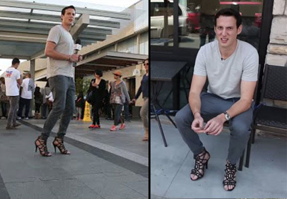 This Man Wore High Heels All Day And Definitely Regrets It man high heels WEB