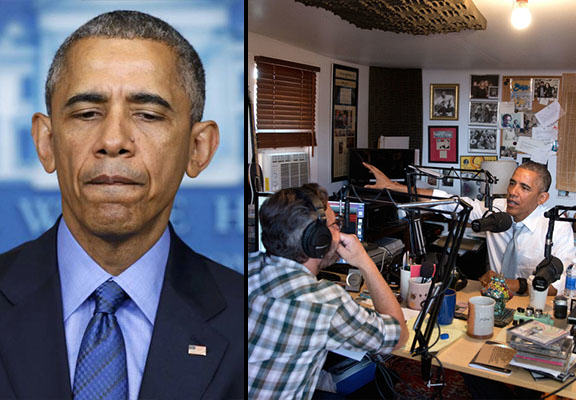 President Obama Opens Up About Racism, Uses N Word obama podcast WEB