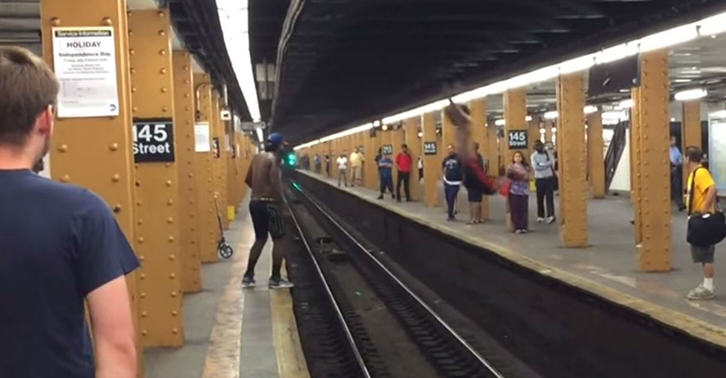 Man Tries To Jump Across Railway Tracks, Guess How This Ends platform fb