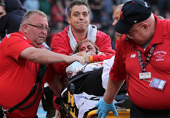 Fan Hit By Broken Bat During Red Sox Game Has Life Threatening Injuries red sox web